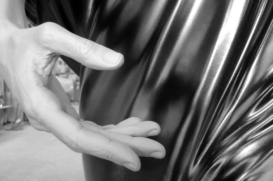Detail of Human Statue (Jessie) by Frank Benson, 2011
