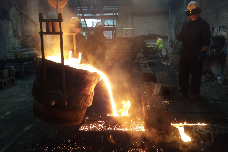 Casting Fir Table at Hargreaves Foundry, Halifax